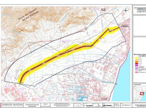 Los mapas estratégicos y planes de acción en materia de contaminación acústica de los grandes ejes viarios y ferroviarios de la Generalitat Valenciana tercera fase realizados por Acusttel entran en fase de exposición pública